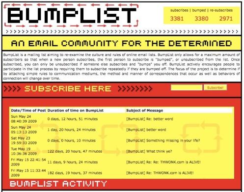 Bumplist